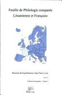 Feuille de philologie comparée lituanienne et française
