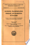 Handling  Transportation  Storage  and Marketing of Peaches Book