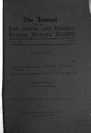 Journal Of The East Africa And Uganda Natural History Society