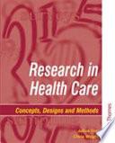 Research in Health Care Book