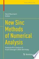 New Sinc Methods of Numerical Analysis