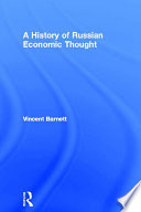 A History Of Russian Economic Thought