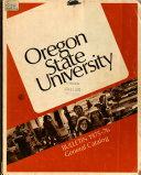 Annual Catalogue of the Agricultural College of the State of Oregon for     and Announcements for