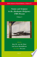 Nature and Scripture in the Abrahamic Religions  1700 Present