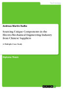Sourcing Unique Components in the Electro-Mechanical Engineering Industry from Chinese Suppliers Pdf/ePub eBook