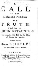 A call to the unfaithful professors of truth, etc