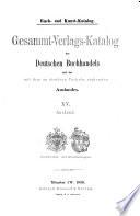Buch- un Kunst-Katalog: Ausland