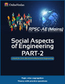 Social Aspects of Engineering  Part 2  for RPSC AE Mains