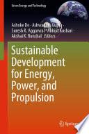 Öffnen Sie das Medium Sustainable Development for Energy, Power, and Propulsion von De, Ashoke im Bibliothekskatalog