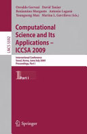 Computational Science and Its Applications –- ICCSA 2009