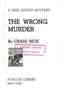 The Wrong Murder Book