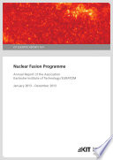Nuclear Fusion Programme  Annual Report of the Association Karlsruhe Institute of Technology EURATOM   January 2013   December 2013 Book
