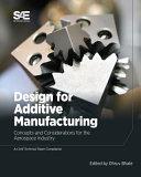Design for Additive Manufacturing Book