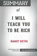 Summary Of I Will Teach You To Be Rich Book PDF