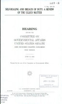 108-1 Hearing: Self-Dealing and Breach of Duty: A Review of The Ullico Matter, S. Hrg. 108-150, June 19, 2003, *