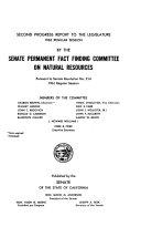 Second Progress Report to the Legislature Book