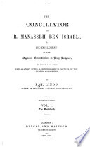 The Conciliator of R. Manasseh Ben Israel