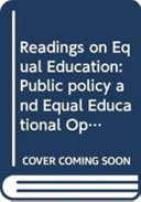 Public Policy And Equal Educational Opportunity