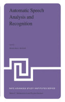 Automatic Speech Analysis and Recognition [Pdf/ePub] eBook