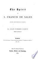 The Spirit of S. Francis de Sales, Bishop and Prince of Geneva