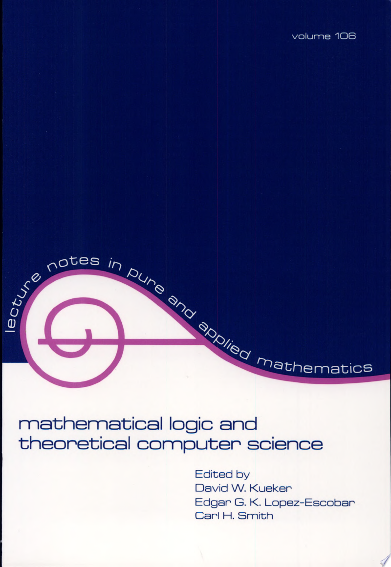 Mathematical Logic and Theoretical Computer Science banner backdrop