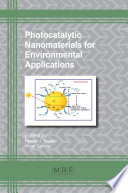Photocatalytic Nanomaterials For Environmental Applications Book PDF