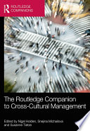The Routledge Companion to Cross Cultural Management Book