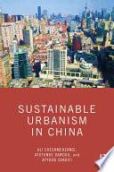 Sustainable Urbanism in China Book