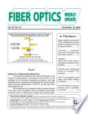 Fiber Optics Weekly Update December 18 2009