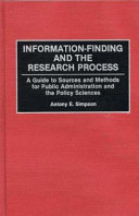 Information finding and the Research Process