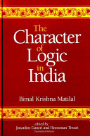 Pdf Character of Logic in India, The