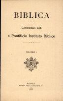 Pdf A Pontificio Instituto Biblico: Vol 1 Telecharger