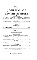 Pdf The Journal of Jewish Studies