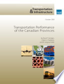 Transportation Performance of the Canadian Province