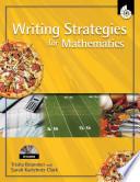 Writing Strategies For Mathematics Reading And Writing Strategies