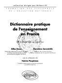 Dictionnaire pratique de l'enseignement en France