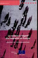 Le racisme à l'égard des migrants en Europe Pdf/ePub eBook