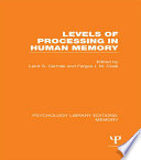 Levels of Processing in Human Memory  PLE  Memory  Book