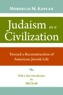 Judaism as a Civilization