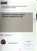 Low cost Flywheel Energy Storage Demonstration