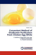 Convenient Method of Ovalbumin Purification from Chicken Egg White