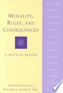 Morality  Rules  and Consequences