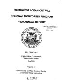 Southwest Ocean Outfall Regional Monitoring Program  Annual Report
