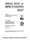 Annual Book of ASTM Standards : 2007