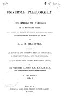 Fac similes of Writings of All Nations and Periods
