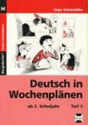 Deutsch in Wochenplänen - Teil 1