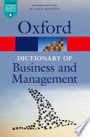 """""""A Dictionary of Business and Management"""" by Jonathan Law"""