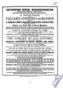 Auction Catalogue Books Of Warren Hastins 22 To 27 August 1853