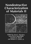 Nondestructive Characterization of Materials II