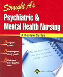 Straight A s in Psychiatric and Mental Health Nursing Book